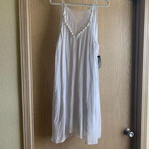 White Strappy Midi Dress